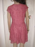 Foto 3 NEU * Edel * Ausgeh * Abend * Cocktail * Lace Spitzen * Mini Kleid ''H&M'' Gr. 36- 38/ S * rosenholz *