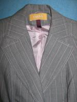 Foto 2 NEU * Elegant * Business * Freizeit * Nadelstreifen * Kostüm * Hosen- Anzug * BLAZER ''BIBA by ESCADA'' Gr. 34- 36/ XS- S, 0 * hell- grau * rosè *