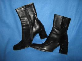 NEU * Elegant * modern * Echt Leder * Stiefeletten *  Stiefel * Ankle Boots ''AUDLEY'' Gr. 37 / 4 * schwarz * black * Gothic *