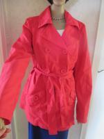 Foto 2 NEU * Klassisch * Sommer * Übergangs * Allwetter * Trench- Coat * Long- Jacke * Kurz- Mantel ''ONLY'' Gr. 40- 42, 44/ M- L * magenta- pink *
