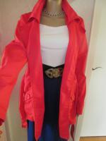 Foto 4 NEU * Klassisch * Sommer * Übergangs * Allwetter * Trench- Coat * Long- Jacke * Kurz- Mantel ''ONLY'' Gr. 40- 42, 44/ M- L * magenta- pink *