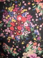 Foto 2 NEU * Romantik * Blumen * Blüten * Mille * Petit fleur * Carmen * Off Shoulder * Bluse mit Puffärmeln ''H&M'' Gr. 34- 36/ XS- S * schwarz * bunt *