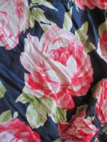 NEU * Romantik * Rosen - Blüten * Flower- Power * Salsa- Style * Mini- Rock ''Abercrombie & Fitch'' Gr. 36- 38/ S * dunkel- blau * pink * bunt *