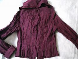 Foto 3 NEU * Seiden * Abend * Ausgeh * Anzug * Kostüm * Volant * Blazer * Jäckchen ''BIBA by ESCADA'' Gr. 34- 36/ XS- S * aubergine * lila *