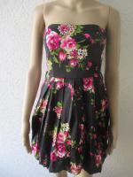Foto 2 NEU * Sexy * Rockabilly Style * Rosen * Blüten * Romantik * Bustier * Mini * Kleid ''rue21'' Gr. 36- 38/ S * dunkel- blau * pink * rosè * grün * weiss *