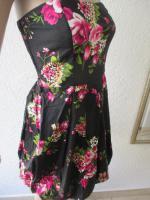 Foto 3 NEU * Sexy * Rockabilly Style * Rosen * Blüten * Romantik * Bustier * Mini * Kleid ''rue21'' Gr. 36- 38/ S * dunkel- blau * pink * rosè * grün * weiss *