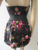 Foto 5 NEU * Sexy * Rockabilly Style * Rosen * Blüten * Romantik * Bustier * Mini * Kleid ''rue21'' Gr. 36- 38/ S * dunkel- blau * pink * rosè * grün * weiss *