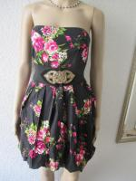 Foto 6 NEU * Sexy * Rockabilly Style * Rosen * Blüten * Romantik * Bustier * Mini * Kleid ''rue21'' Gr. 36- 38/ S * dunkel- blau * pink * rosè * grün * weiss *