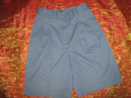 NEU * Sexy * edel * High- waist * Bermuda * Short * Hose ''ALBA MODA'' Gr. 34- 36/ XS- S * rauch- blau- grau *