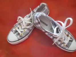 Foto 2 NEU * Stylisch * Gold- Glitzer Karo * Freizeit * Stoff * Chucks * Sneaker * Schuhe ''Converse All Star'' Original * Gr. 38½ * 38,5 / 5½ * 5,5 * schwarz * weiss * RAR *