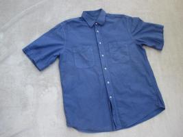 Foto 2 NEUw * Edel * Business * Freizeit * Leinen * Kurzarm * Button- Down Kragen * Hemd ''van Laack'' Original * Gr. 41- 42/ M- L * royal- königs- blau *