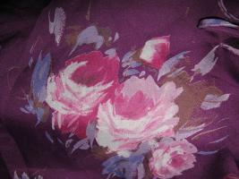 NEUw * Edel * Original VINTAGE * DESIGNER * Festival * Hippie- Style * Rosen * Blüten * Romantik * Chiffon * Baby- Doll * Tunika * Bluse * Gr. 38- 40/ S- M * aubergine- lila * pink * weiss *