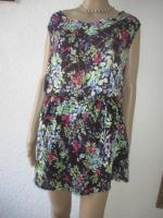 Foto 2 NEUw * Romantik * Blumen * Blüten * Flower- Power * Festival * Hippie- Style * Mini Kleid ''ESPRIT * edc'' Gr. 38- 40/ S- M * dunkel- blau * bunt *