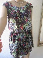 Foto 3 NEUw * Romantik * Blumen * Blüten * Flower- Power * Festival * Hippie- Style * Mini Kleid ''ESPRIT * edc'' Gr. 38- 40/ S- M * dunkel- blau * bunt *