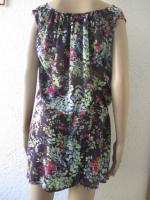 Foto 5 NEUw * Romantik * Blumen * Blüten * Flower- Power * Festival * Hippie- Style * Mini Kleid ''ESPRIT * edc'' Gr. 38- 40/ S- M * dunkel- blau * bunt *