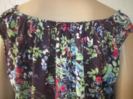 Foto 6 NEUw * Romantik * Blumen * Blüten * Flower- Power * Festival * Hippie- Style * Mini Kleid ''ESPRIT * edc'' Gr. 38- 40/ S- M * dunkel- blau * bunt *