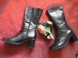 NEUw * Stylisch * Echt Leder * Budapester Style * Stiefeletten * Stiefel ''Vera Gomma'' Gr. 36/ 3 * schwarz * Gothic *