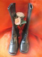 Foto 2 NEUw * Stylisch * Echt Leder * Budapester Style * Stiefeletten * Stiefel ''Vera Gomma'' Gr. 36/ 3 * schwarz * Gothic *