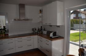 Nobilia küchen weiss hochglanz u form  NOBILIA Einbauküche weiß hochglanz inkl. Siemens Einbaugeräten in ...