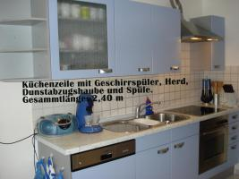 nolte einbauk che mit e ger ten tisch st hle top in schnelldorf blau nolte. Black Bedroom Furniture Sets. Home Design Ideas
