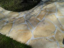 Foto 2 Natursteinplatten Polygonalplatten Terrasse Fliesen Urlaubsfeeling