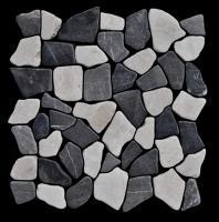 Marmormosaik Black White