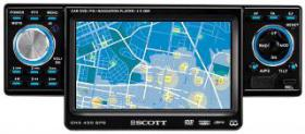 Navigations-Autoradio SCOTT ''DNX 430 GPS'' DVD/CD/MP3, 4,3'' Display, Navi mit West+Ost-Europa