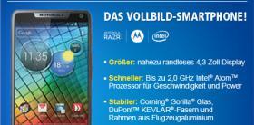 Neu bei 1&1:Motorola ''RAZRI''Ab 0, -€ zu den 1&1 All-Net-Flats!