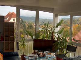 Foto 3 Neue Ferienwohnung mit super Fernblick in Schmalkalden/Thüringen für 1-4 Pers. mit Wintergarten & gratis Garagenplatz