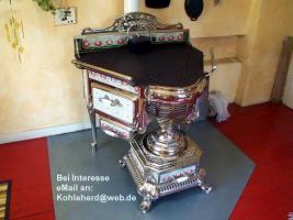 Neuer Preis: Antiker Küchenherd Jugendstil, Frankreich 1910, Kohleherd antik
