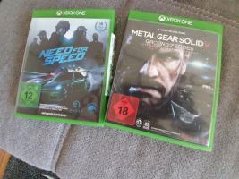 Neuwertige X-Box One Spiele; Metal Gear Solid V; Need For Speed