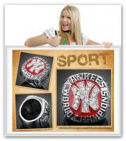 New York Yankees Championship Ring rot Crystal Team Sport Souvenir Sammler rar