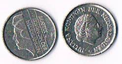 Niederlande 25 Cent Koningin Juliana und Beatrix .