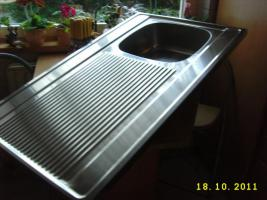Foto 2 Nirosta-Auflagenspüle 60x100cm, unbenutzt