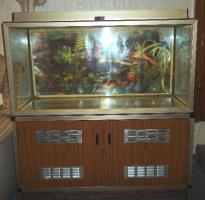 Nostalgie Aquarium ca. 200 Liter mit Schrank