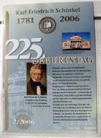 Numisblatt 2/2006  - 225. Geburtstag Karl Friedrich Schinkel