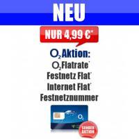 O2 + Festnetz + Internet Simkarte Vertrag Handyvertrag Flat