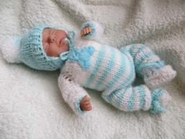 OOAK Baby handmodelliert 21cm groß Unikat Minischeibengelekkörper Zertifikat