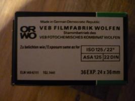 Foto 2 ORWO Schwarzweiß-Negativfilm DDR