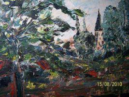 Öl Gemälde von HOK- Düsseldorfer-Schule 1956