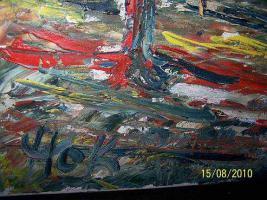 Foto 7 Öl Gemälde von HOK- Düsseldorfer-Schule 1956