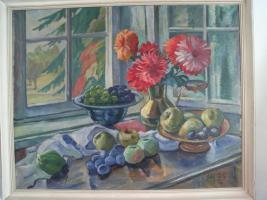 Öl - Bild ' Hans Eder ' Kunst Maler von Siebenbürger   1883-1955    80cm x 100