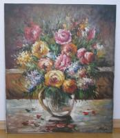 Ölbild (Blumen) ohne Rahmen