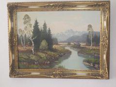 Ölbild von L. Wiedermann, Oberbayrisches Moor, Gestorben 1945