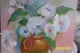 Lilien Und Chrysanthemen