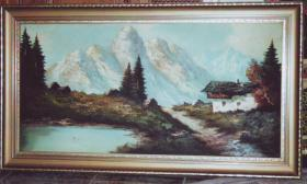 Ölgemälde Alpenlandschaft