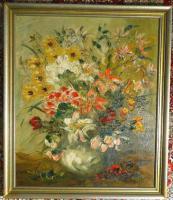 Ölgemälde Blumenstilleben um 1900 (B044)