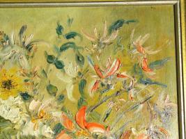 Foto 3 Ölgemälde Blumenstilleben um 1900 (B044)