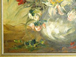 Foto 4 Ölgemälde Blumenstilleben um 1900 (B044)