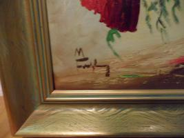 Foto 2 Ölgemälde signiert Motiv Mohnblumen